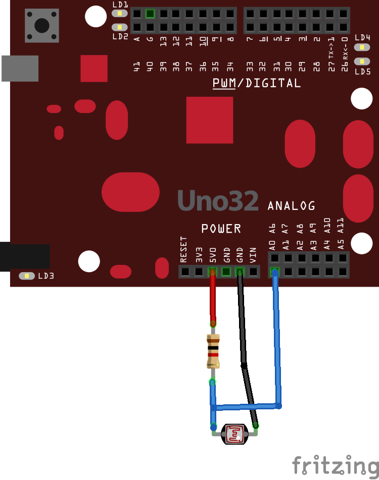 Chipkit and LDR_bb