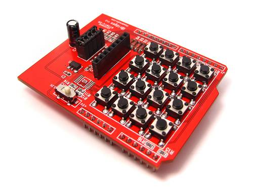 4X4 Key-pad shield with display interface