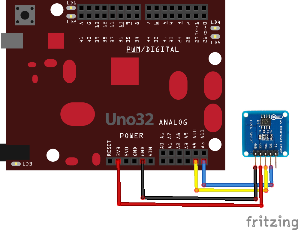 chipkit and lm75