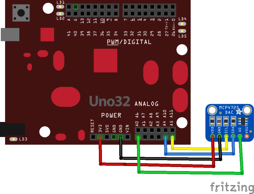 chipkit and mcp4725